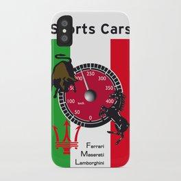 Ferrari, Maserati, Lamborghini : an italian trilogy. Vintage Decoration Print Poster iPhone Case