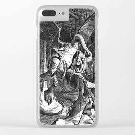 Jabberwocky Illustration from Alice in Wonderland Clear iPhone Case