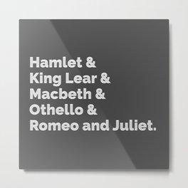 The Shakespeare Plays I Metal Print