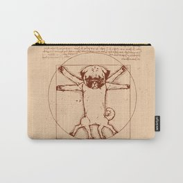 Vitruvian pug Carry-All Pouch