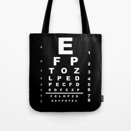 Inverted Eye Test Chart Tote Bag