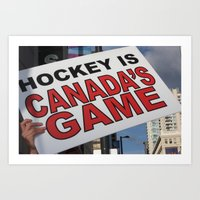 hockey Art Prints featuring Hockey by Citra Photography