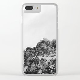 Black Castle Mountain Clear iPhone Case