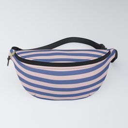 1 inch stripe blue & pink horizontal Fanny Pack