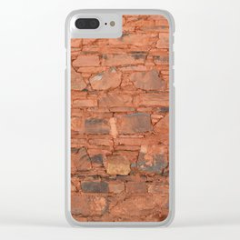 Tibetan Stone Wall Clear iPhone Case