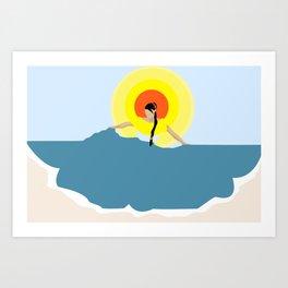 La Morena Art Print