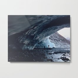 Portage Glacier Caves Metal Print