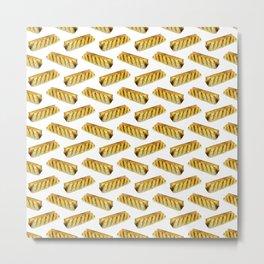 Sausage Roll Polka Dot Pattern Metal Print