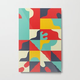 Abstract Naive Composition 002 Metal Print