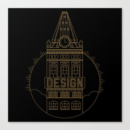 Oakland is Design (Black & Gold) Canvas Print