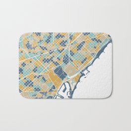 Barcelona map Bath Mat