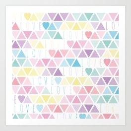 Valentine's Day - Love triangle Art Print