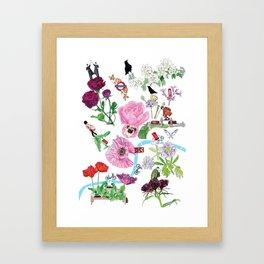 London in Bloom - Flowers and transportation that make London Framed Art Print