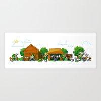 Lon Lon Ranch Art Print
