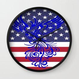 America Is Reborn Pro Democratic Phoenix Wall Clock