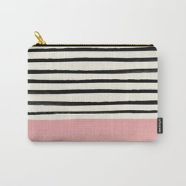 Blush x Stripes Carry-All Pouch