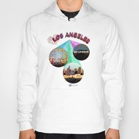 movie posters Hoodies featuring Los Angeles—Movie Poster Edition by laloveshirts