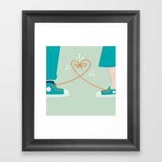 Sneaker Love Framed Art Print