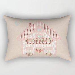 Cute little house cross stitch Rectangular Pillow