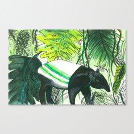 Sleepy head Malayan Tapir Canvas Print