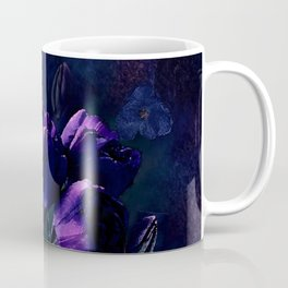 Purple Tulips in a Midnight Garden Coffee Mug