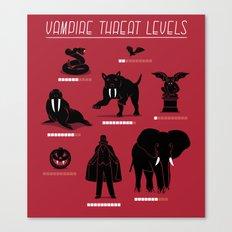 Vampire Threat Levels Canvas Print
