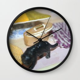 Doll House Kitten Wall Clock