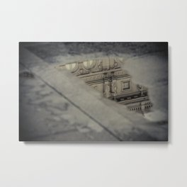 The Opera in the puddle Metal Print