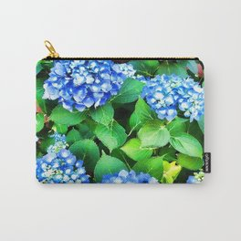 Spring In The Air - Blue Hydrangea Carry-All Pouch
