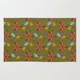 Colorful flowers surface Rug