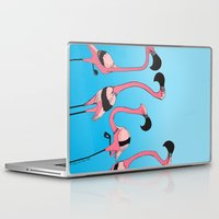 flamingos Laptop & iPad Skins featuring Flamingos by Diana Dypvik