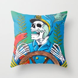 Down With the Ship Throw Pillow