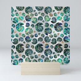 Sea shells pattern Abalone Mini Art Print
