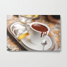 hot milk chocolate and ginger cookie Metal Print