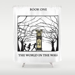 The World in the walls Shower Curtain