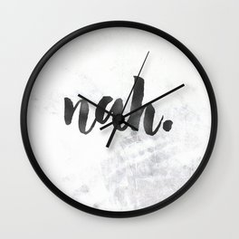 NAH Marble Quote Wall Clock