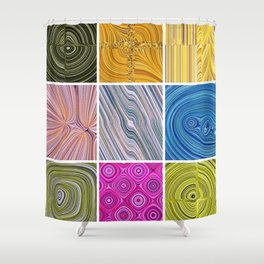Electric Field Art Collage II Shower Curtain