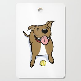 Big Smiley Brown Dog with Tennis Ball Cutting Board