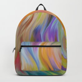 Abstract painting color texture 6 Backpack
