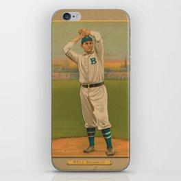 Vintage Backyard Baseball Player - Bell Brooklyn iPhone Skin