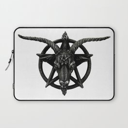 Baphomet Satanic Church Goat Head Laptop Sleeve