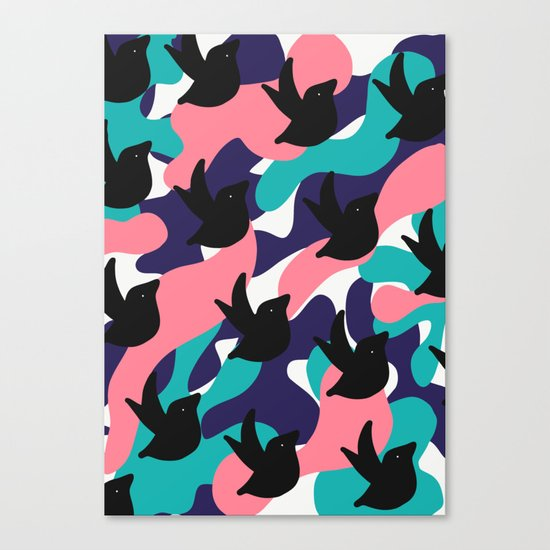 Birds Pattern Canvas Print