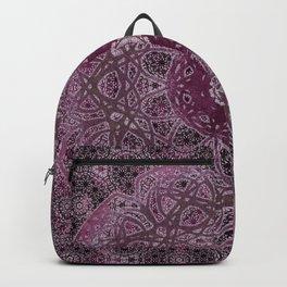 Vintage Merlot Lace Mandala Backpack