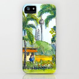 View from orchid garden in KL, Malaysia iPhone Case