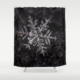 Snowfake on some fleece Shower Curtain