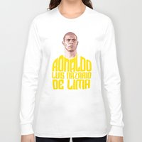ronaldo Long Sleeve T-shirts featuring Ronaldo Name Yellow by Sport_Designs
