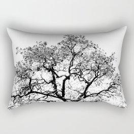 Tree - Black and White Rectangular Pillow