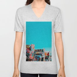 West Coast Road Trips Series: Cadillac Ranch Unisex V-Neck