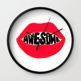 SAY AWESOME Wall Clock
