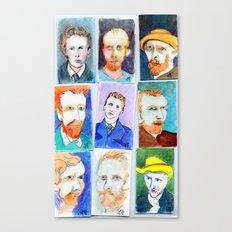 Van Gogh's Self Portraits by Lynne Holyoke 3 Canvas Print